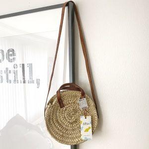 NWT Madewell Round Straw Handbag -smaller version